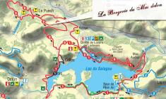 Biking Map of Salagou